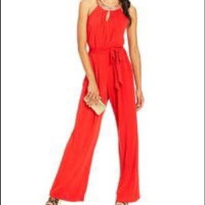 Vince Camuto Red Jumpsuit with pockets